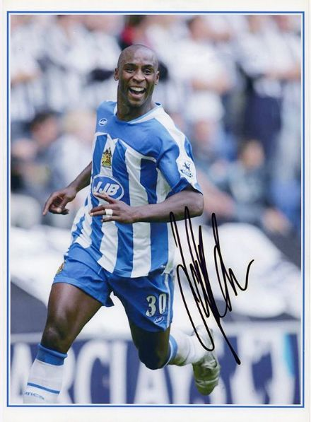 Jason Roberts, Wigan Athletic, signed 12x8 inch photo.